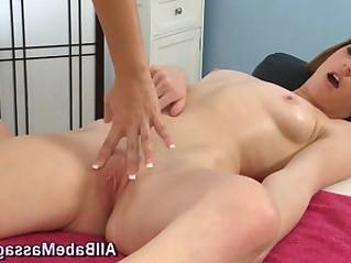 Lesbian masseuse eats out