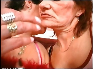 Lesbian grannies pussy and tits licking