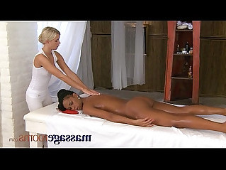 Massage Rooms Lesbian gspot tantric orgasm for black beauty girl