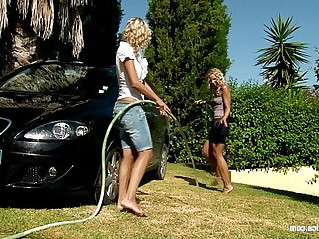 Automobile Amour by Sapphic Erotica lesbian scene in group with Lena and Al