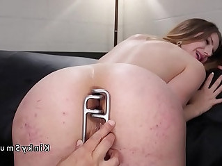 Lesbian gaping and anal slave