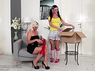 Ellen Sue and Kathy Anderson Lesbian Fun
